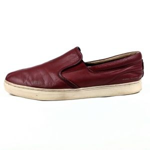 Skechers Mark Nason Red Leather Loafers Size 10